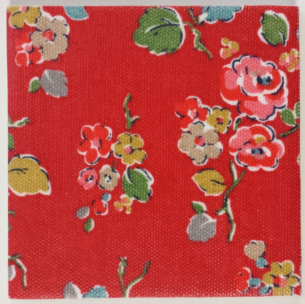 Ceramic Wall Tiles Made With Cath Kidston Woodland Rose Red